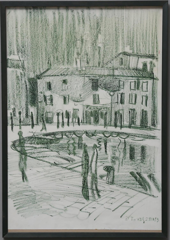 Boris Tavzelj, charcole on paper