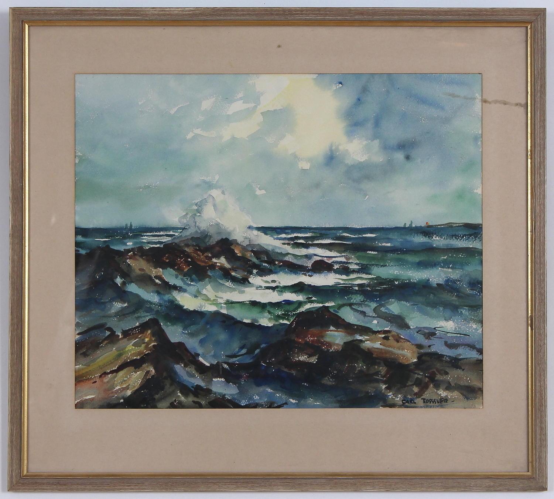 CARL ROESSLER, watercolour