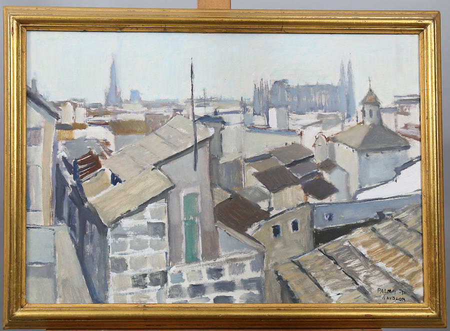 A. NYBLOOM, Palma '54 oil on canvas.
