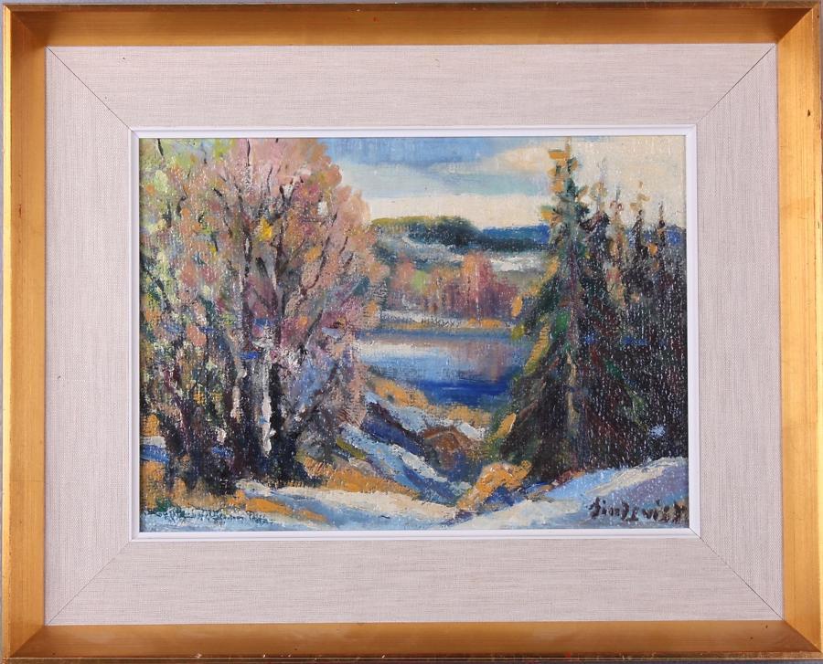 BENGT LINDQVIST, 'Spring' oil on canvas