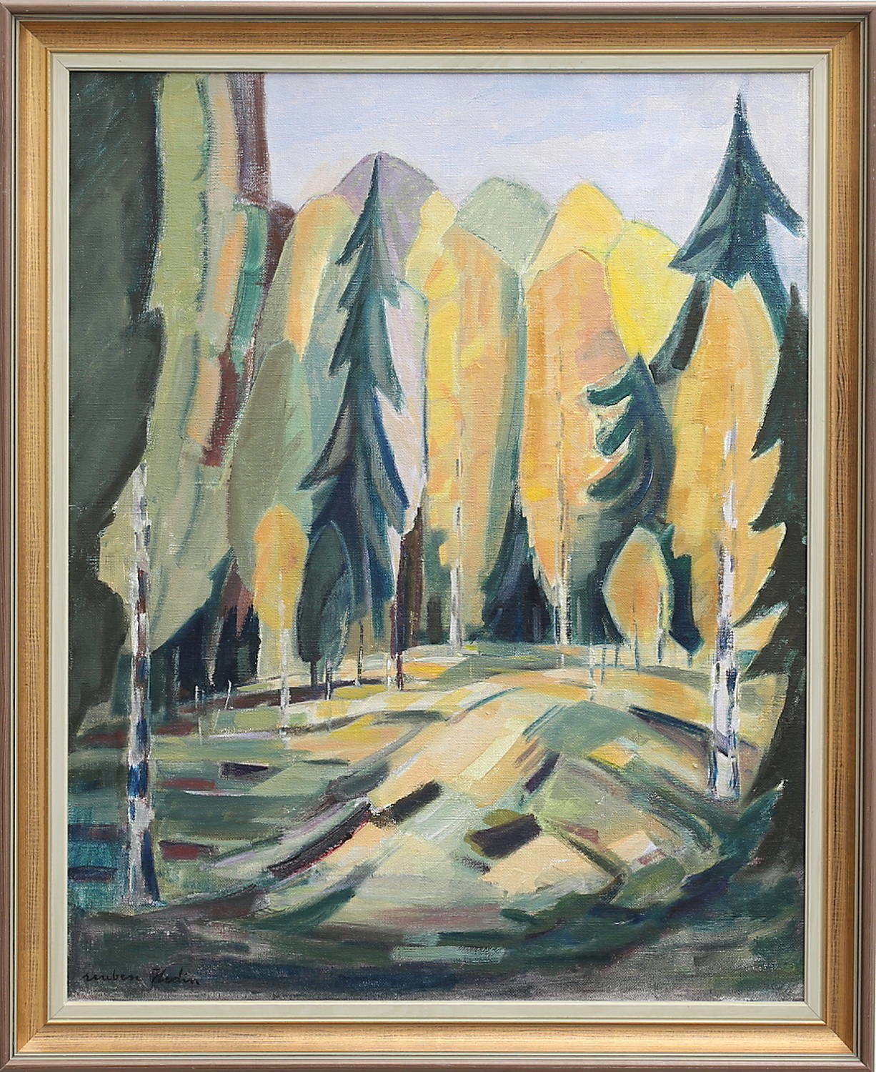 REUBEN HEDIN oil on canvas Trees