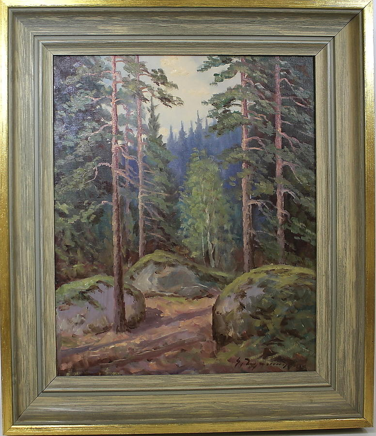 UNKNOWN ARTIST, Pine forest glade