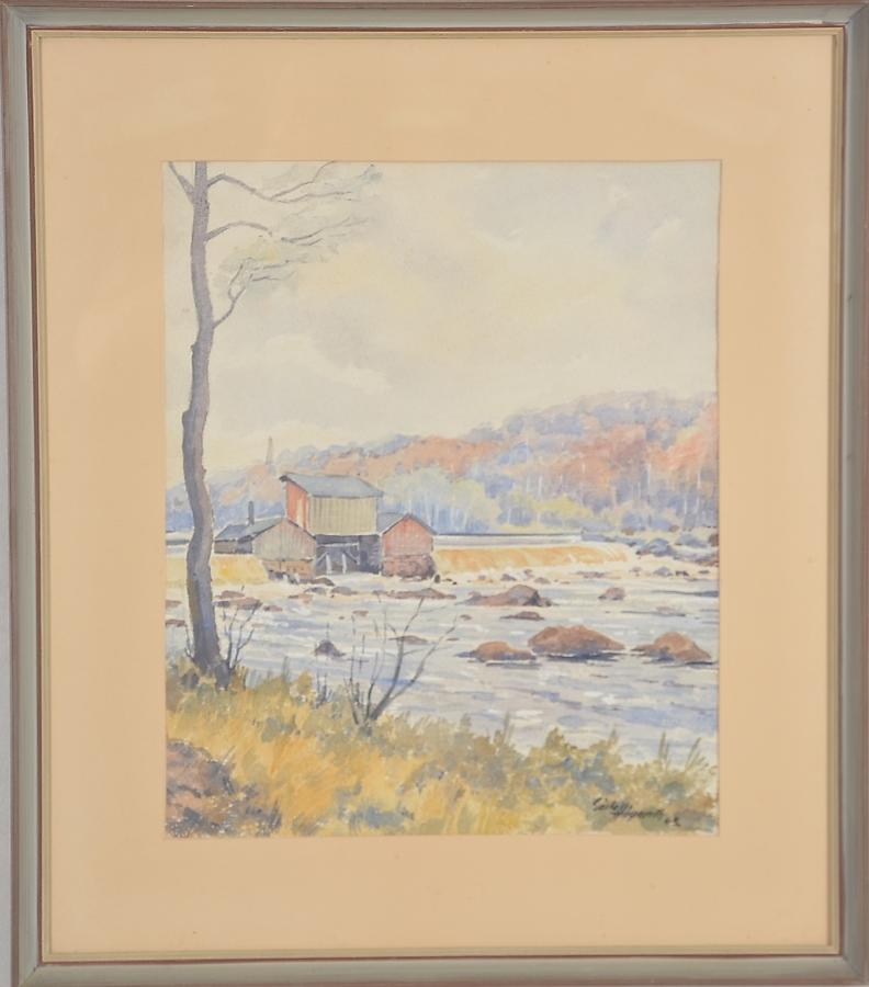 GÖSTA HÖGARDH, watercolour dated '42