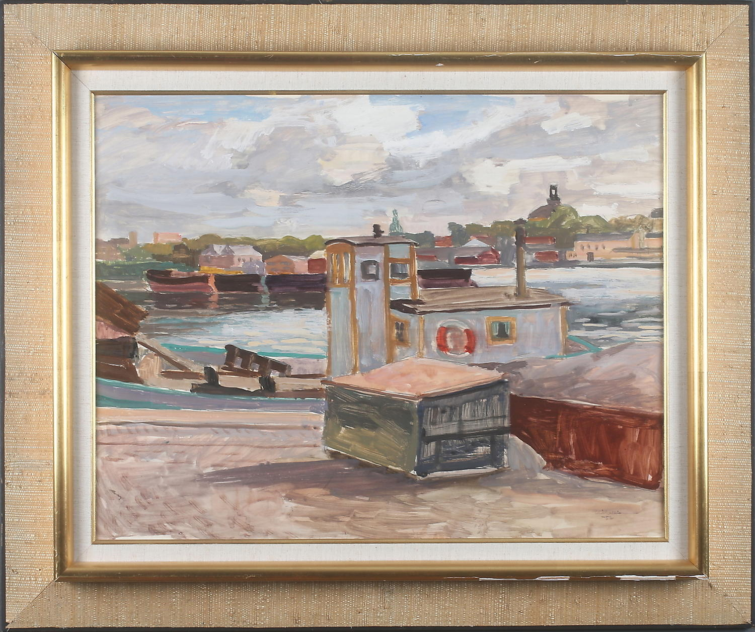 ELLIS WALLIN oil on panel dated '52