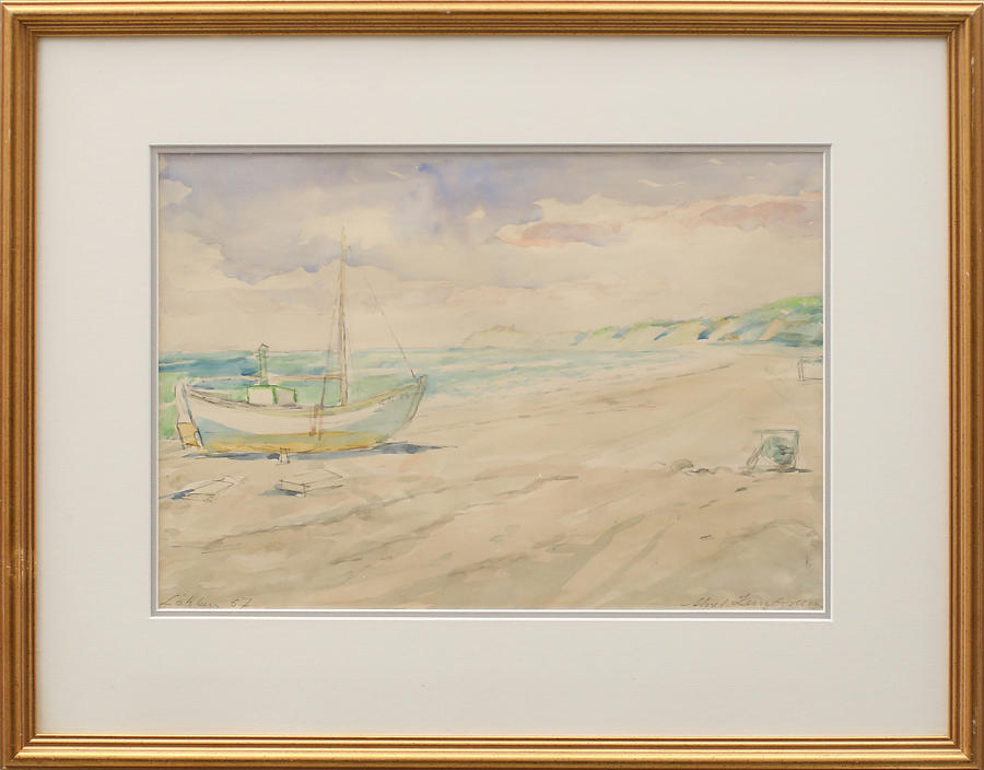 AKSEL LUNDGREN watercolour of Løkken, Denmark
