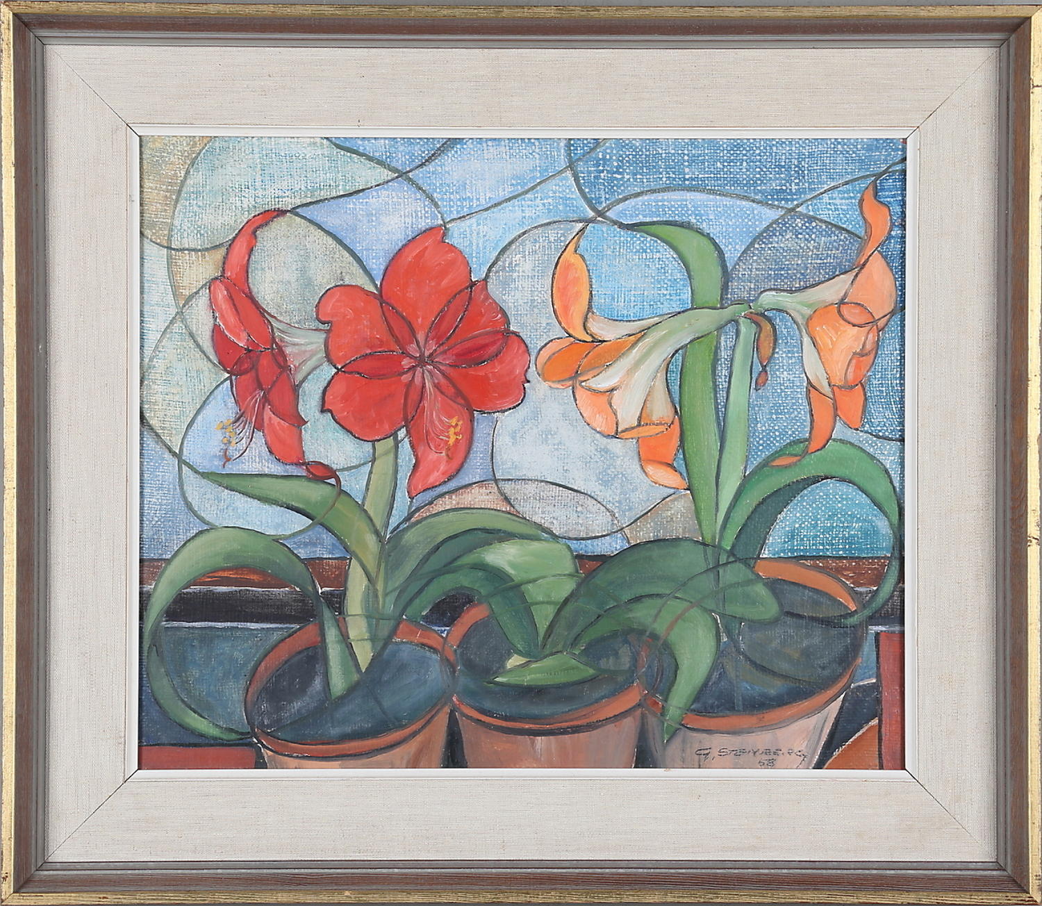 GUNNAR STENBERG, Amaryllis, oil on canvas