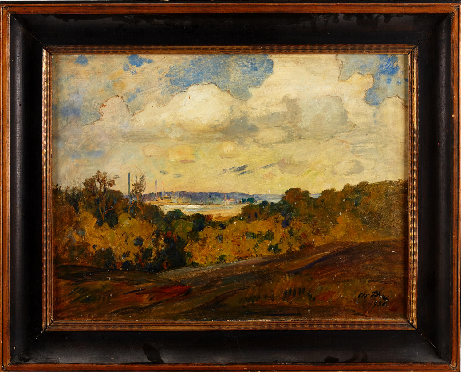 AXEL PETER, oil on panel dated 1936