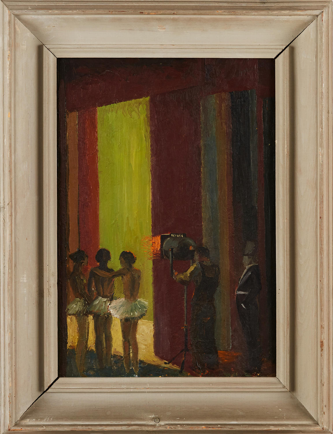 HARALD GARMLAND - From a Theater, oil on canvas