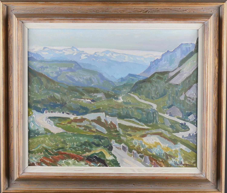 FRITZ SMEDBERG, oil on canvas, Folgefonna, Norway