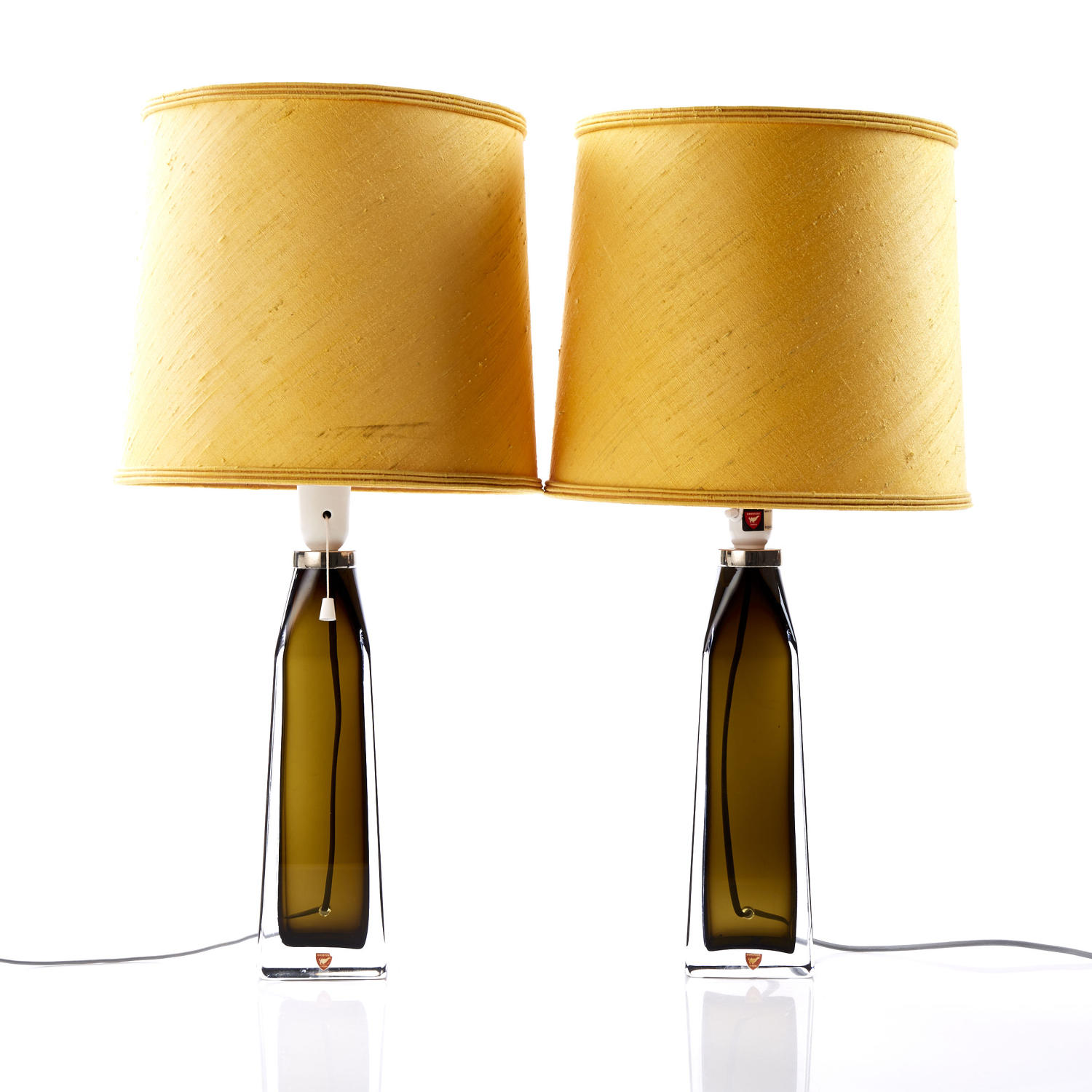 A pair of table lamps by CARL FAGERLUND for Orrefors