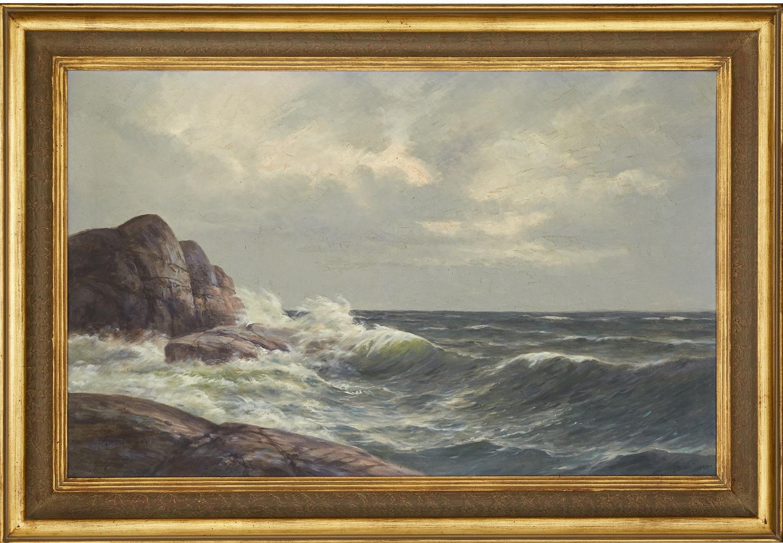 ANSHELM DAHL, Swedish 1897-1964, marine view.