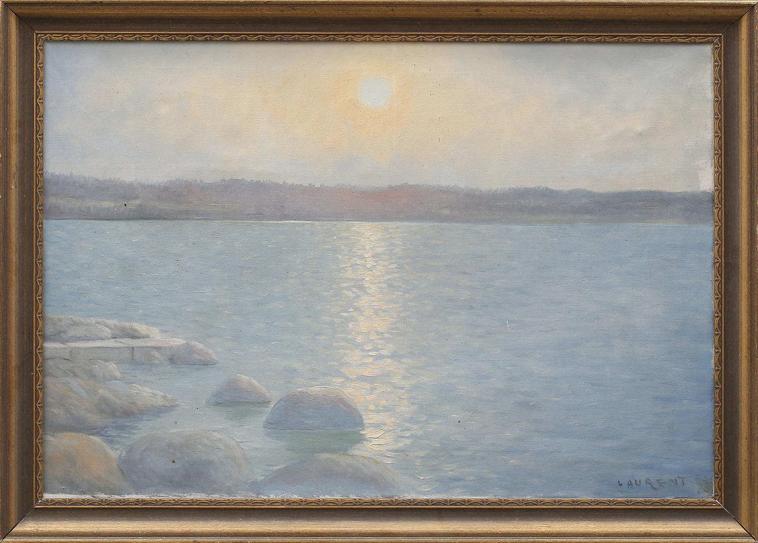 Unknown artist, sunset over water