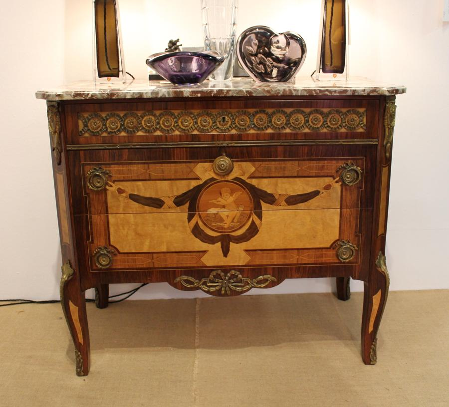 A Swedish Gustavian revival commode