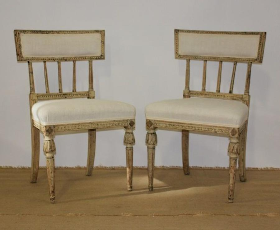 A pair of Swdish Gustavian chairs