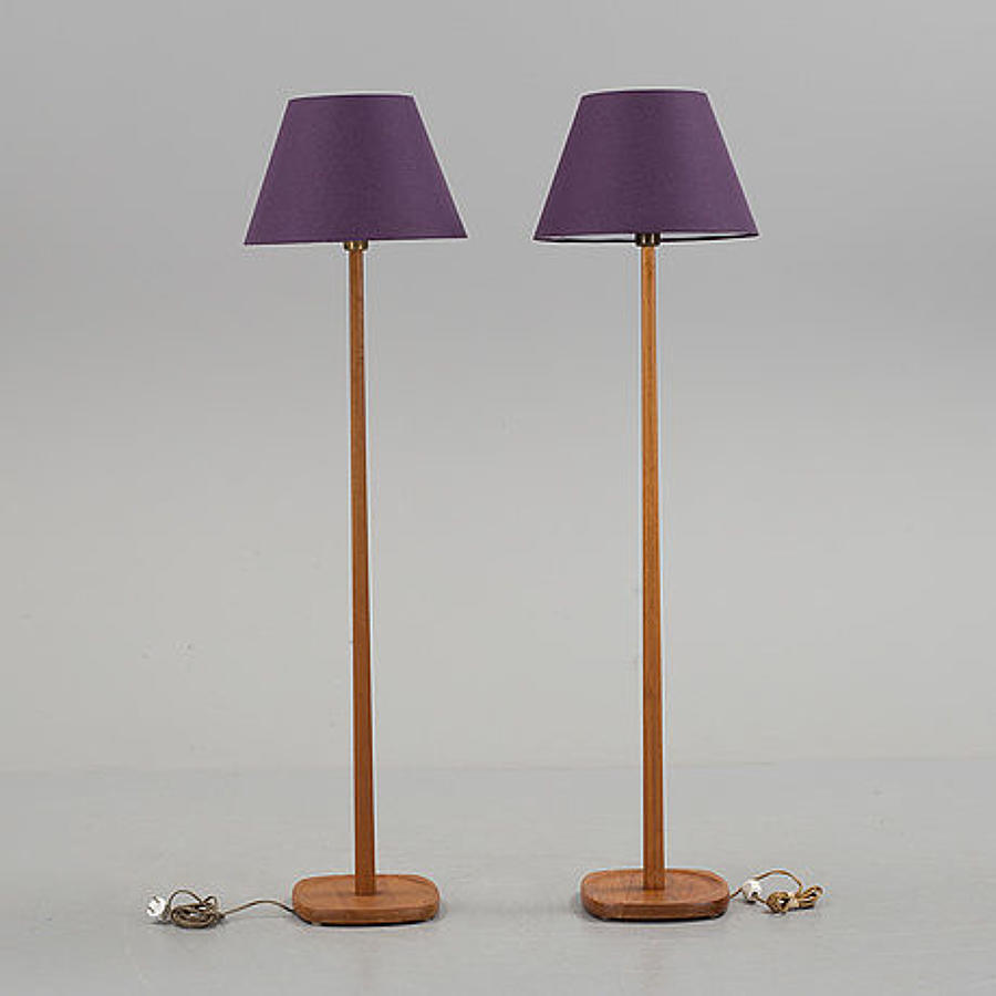 A pair of 1960's Swedish standard lamps