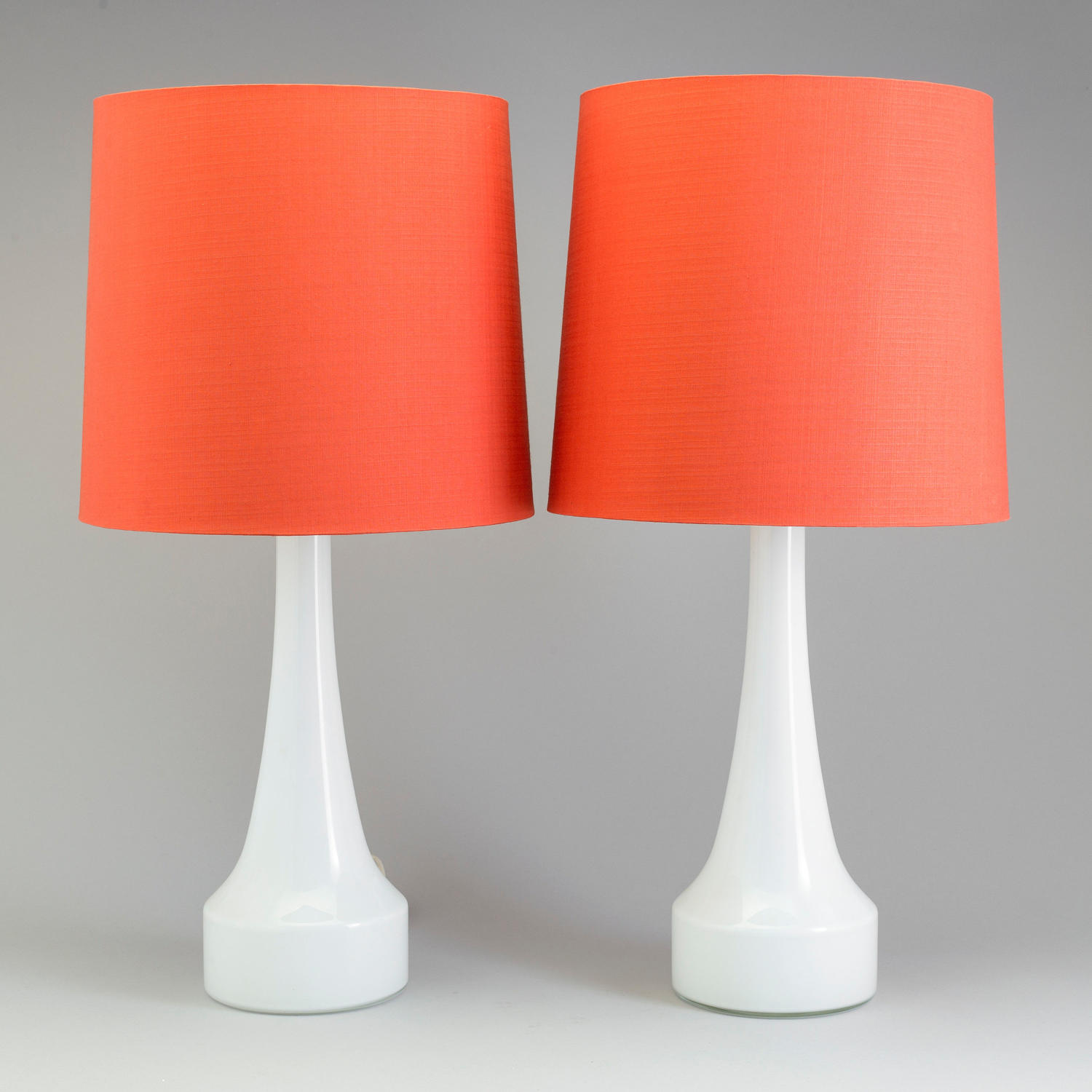A pair of Swedish glass table lamps by Bergboms