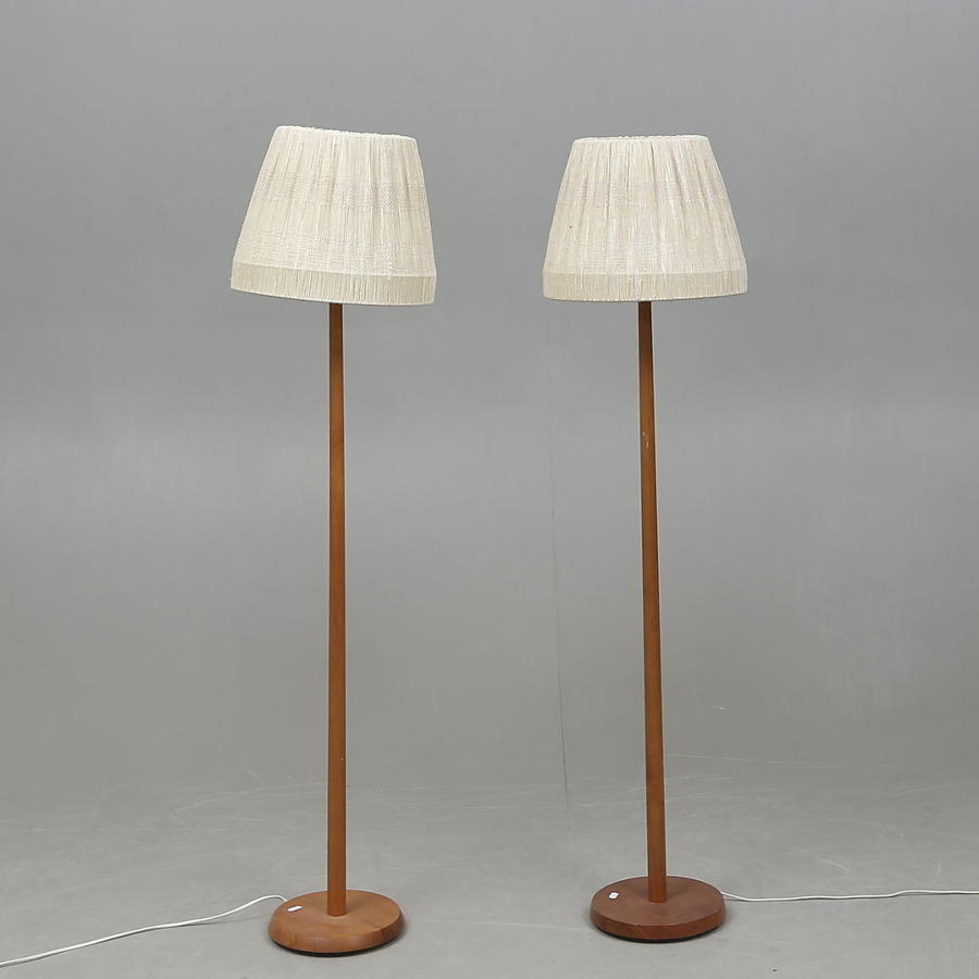 A pair of Swedish Teak standard lamps