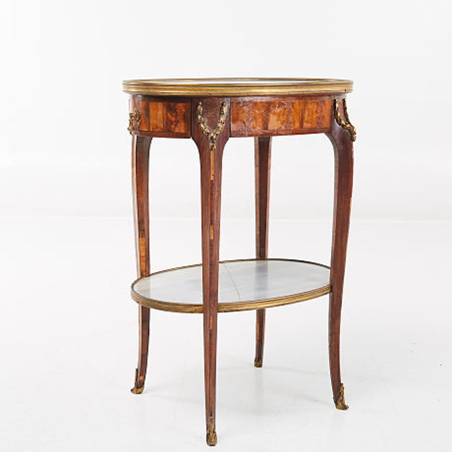 A Walnut veneered étagère signed G. Durand