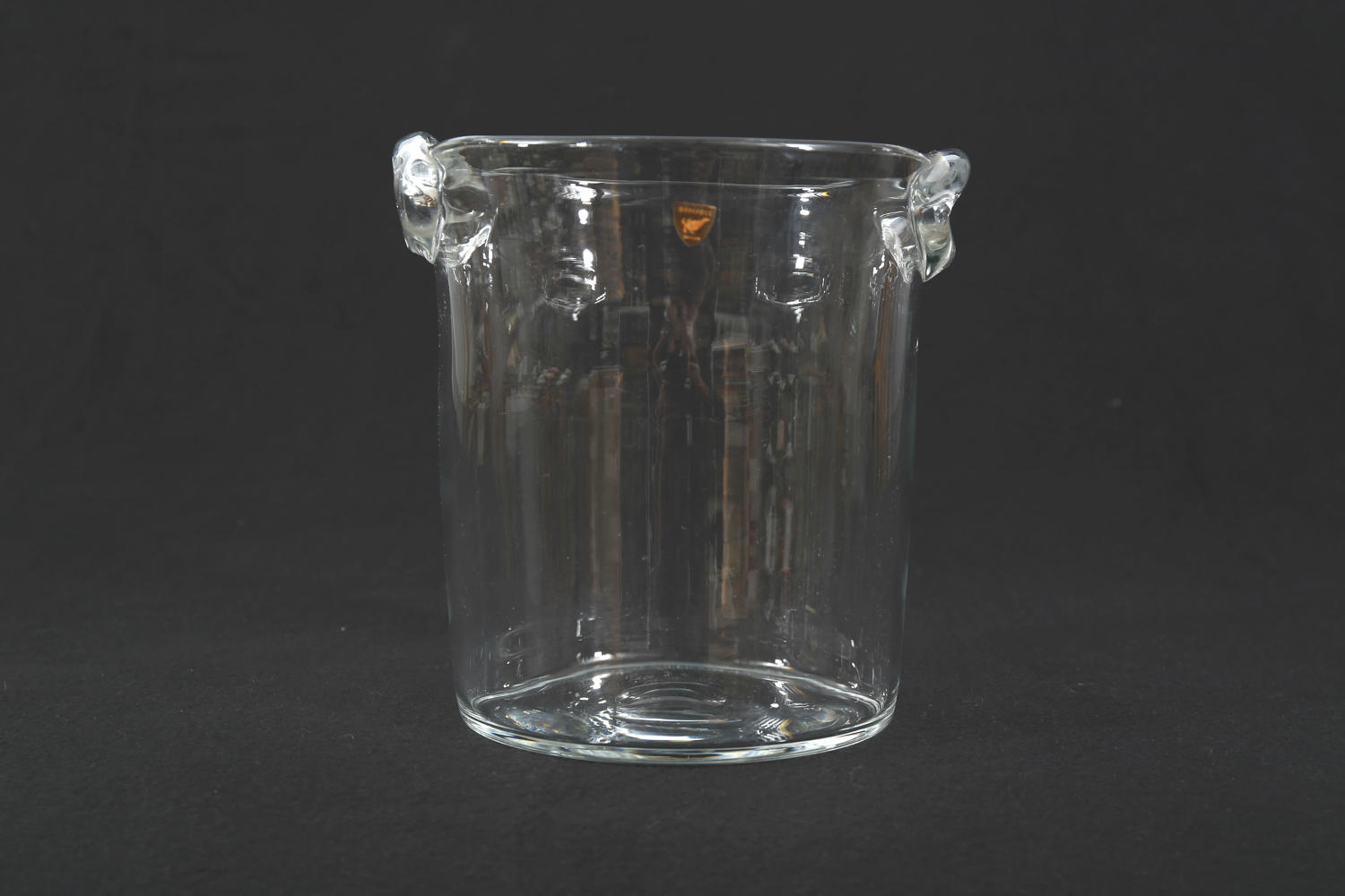 A glass wine cooler by Orrefors, Swedish 1950's