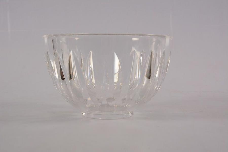 A Swedish lead glass bowl by Sven Palmqvist at Orrefors