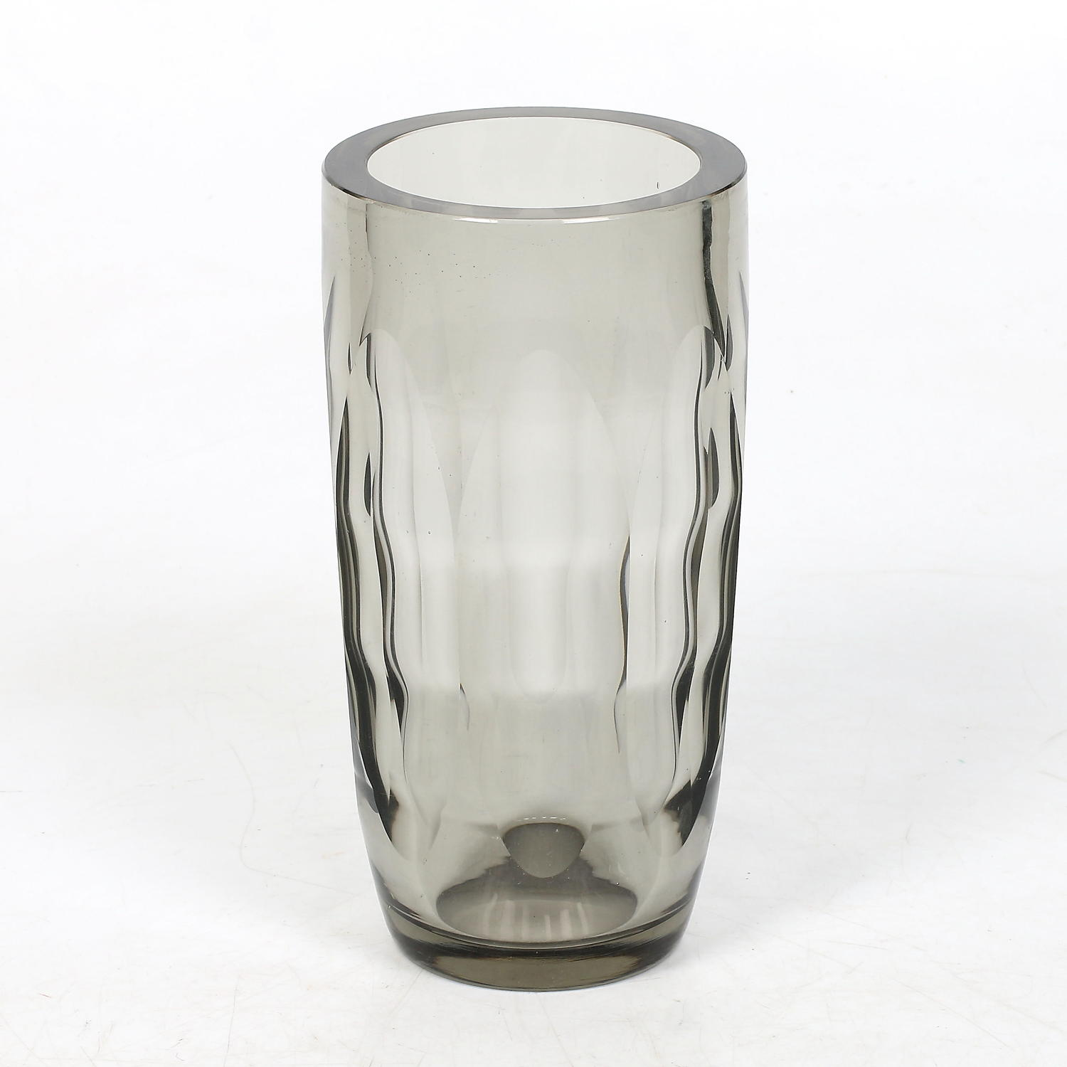 A 1930's Swedish lead glass vase by Elis Bergh at Kosta