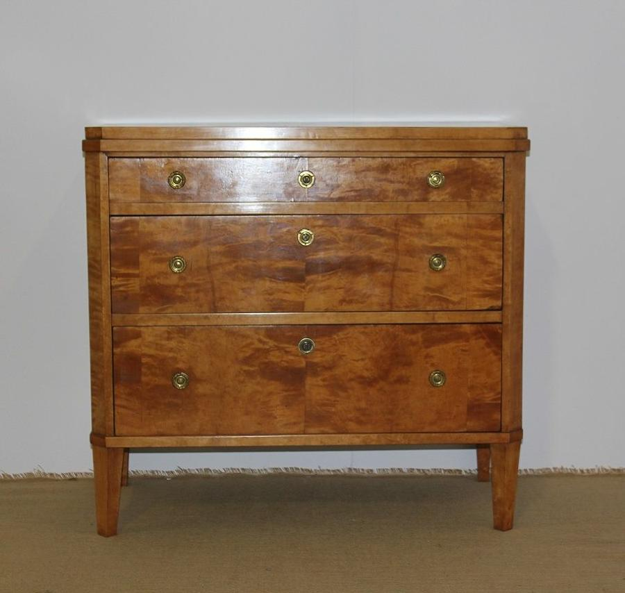 A small Swedish Birch Commode in the Gustavian style